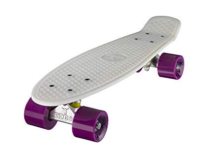 GLOW IN THE DARK | Ridge Retro 22 Inch Cruiser Skateboards | Vintage Style Mini Cruiser Complete Skateboard