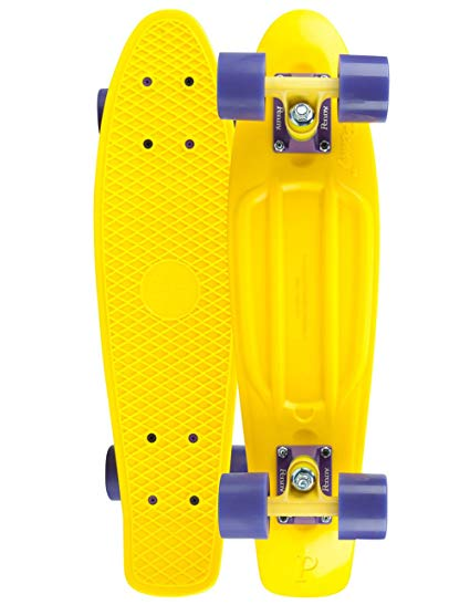 Penny Complete 22-Inch Skateboard Yellow/Yellow/Purple