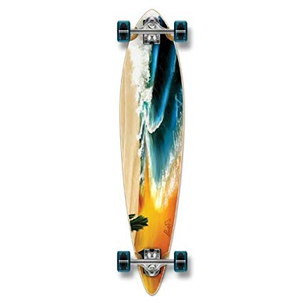 Yocaher Special Graphic Complete Longboard PINTAIL skateboard w/70mm wheels …