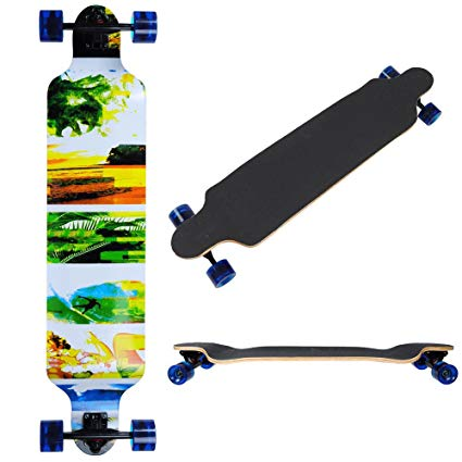 Drop Deck Twin Longboard Skateboard 46 Inches