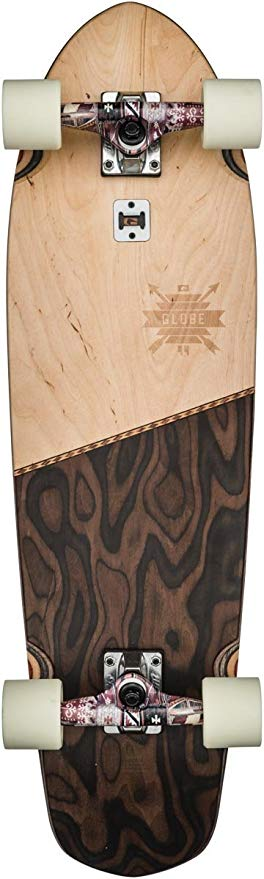 GLOBE Skateboards Big Blazer Cruiser Complete Skateboard, Natural/Burle, 32