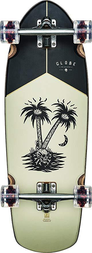 GLOBE HG Globe Stubby Cruiser Complete Skateboard, Teak/Nightfall, Size 30