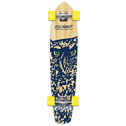Yocaher Spirit Owl Longboard Complete skateboard cruiser - available in All shapes