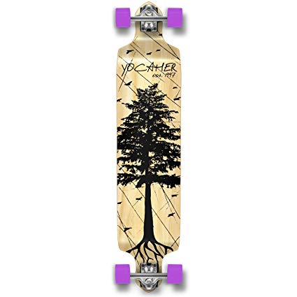 Yocaher In The Pines NATURAL Longboard Complete Skateboard - available in All shapes