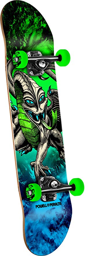 Powell-Peralta Mini Cab Dragon Storm Complete Skateboard, Green